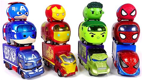Tomica Tsum Tsum Series Marvel Avenger Iron we envy transform tsum tsum cars tomica marvel tune spider iron dudupoptoy