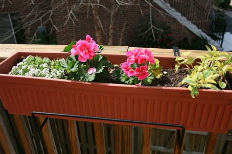 planters inspiring deck railing planter boxes outdoor