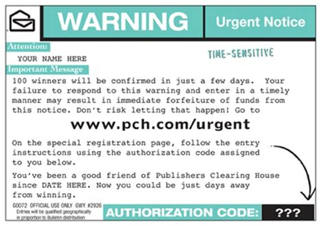 Publishers Clearing House Address Port Washington - urgent a pch com urgent post card could win you fast cash pch blog