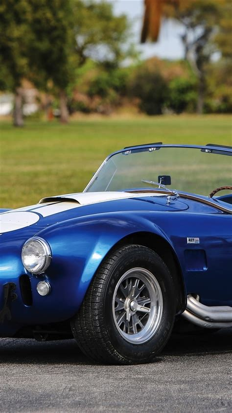 wallpaper  shelby cobra  sc ford blue car