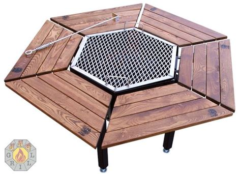 diy pit grill table korean bbq grill table woodworking projects plans