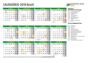 Calendario 2018 Ecuador Calend 193 2018 Feriados Todos Os Estados