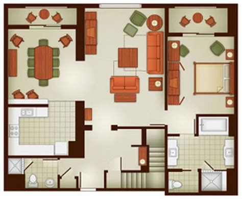 grand floridian 2 bedroom villa floor plan grand californian