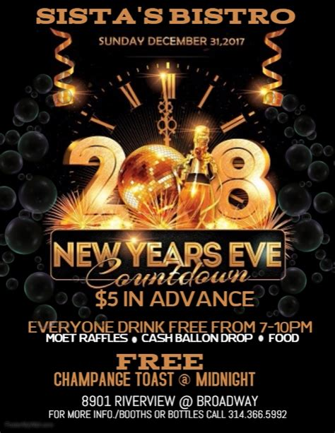 New Years Eve Flyer Template Postermywall New Years Flyer Template