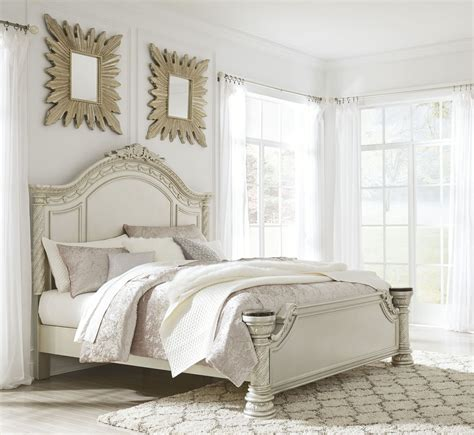 north shore panel bedroom set cassimore north shore pearl silver panel bedroom set from