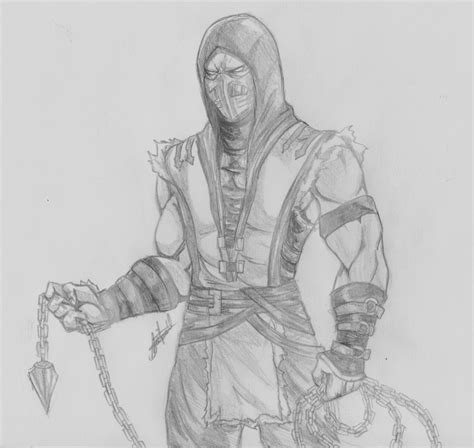 how to draw scorpion from mortal kombat x easy things to scorpion from mortal kombat favourites by thenewjustice on
