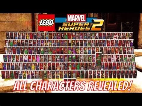 lego marvel super heroes 2 all characters revealed! youtube