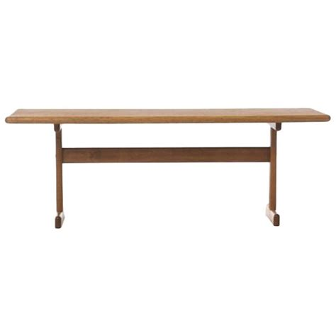 Vintage Danish Modern Coffee Table In White Oak For Sale White Coffee Table For Sale