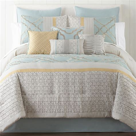 home expressions comforter sets home expressions gretchen 10 pc comforter set jcpenney