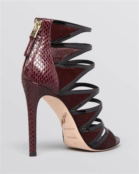Heel Black Kezia Termurah 05 lyst b brian atwood open toe strappy evening sandals lynnden high heel in purple