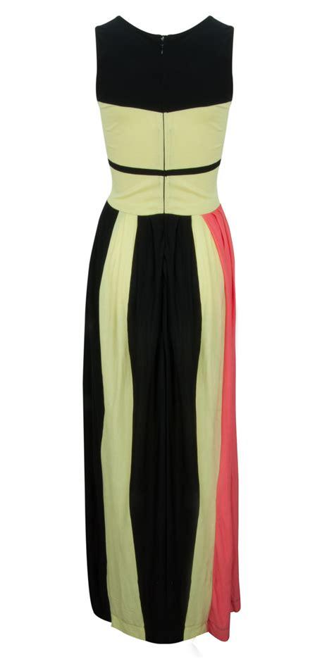 Dress Madina connection medina stripe dress in black