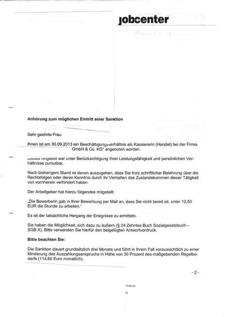 Bewerbung Schreiben Muster Jobcenter Drohenden Sanktion Wegen Negativverhalten Bei Bewerbung Erwerbslosen Forum Deutschland Elo Forum