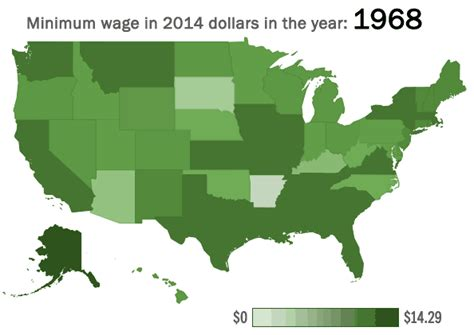 minimum wage in every state the decreasing value of the minimum wage in every state