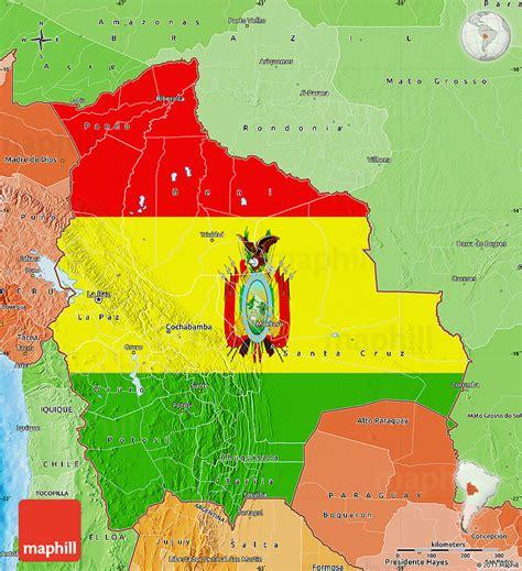 bolivia political map flag map of bolivia political shades outside