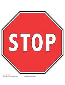 Stop Sign Template Free by Education World Tools Templates Gt Traffic Signs