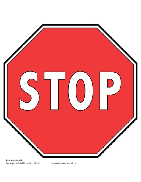 stop sign template free tools templates gt traffic signs education world