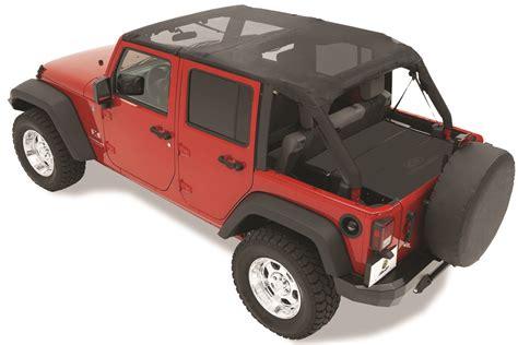 Jeep Tj Safari Top Bestop 52581 11 Header Style Safari Mesh Top For 07