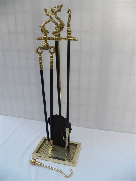 virginia metalcrafters solid brass fireplace tool 5