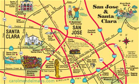 san jose tourist map san francisco the bay area visitor s map