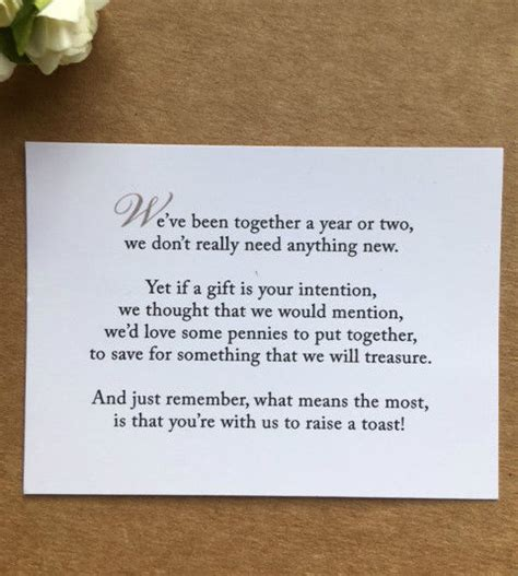 Wedding Money Box Quotes by Wedding Poem Card Inserts Wedding Invitations Money