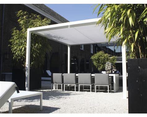 flachdach pavillon aluminium pavillon cube freistehend 400 x 400 cm wei 223 bei hornbach