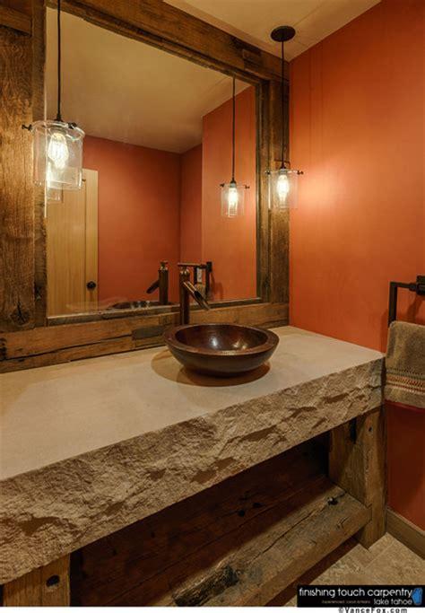 rustic vanity mirrors for bathroom repurposed barn wood furniture