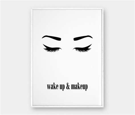 printable poster art wake up and makeup wall art printable poster beauty poster