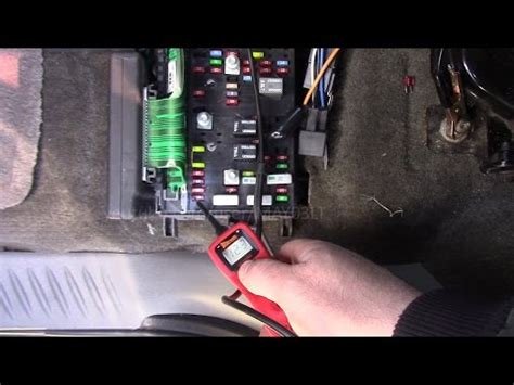 trailblazer interior light fuse location  testing