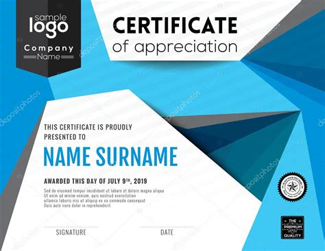 modern certificate background design template stock