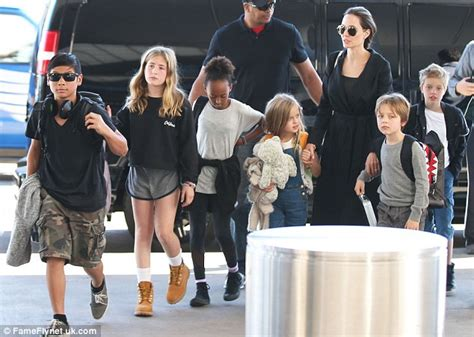New Photo Of The Pitt Family by Brad Pitt And S Pax Injures His Right