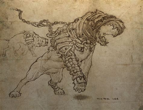 Diablo 3 Sketches by Triune Leader Blood Guard One Side Of The Coin