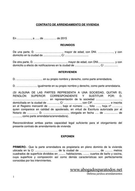 contrato de arrendamiento de vivienda 2015 contrato de arrendamiento de vivienda by jorge edison
