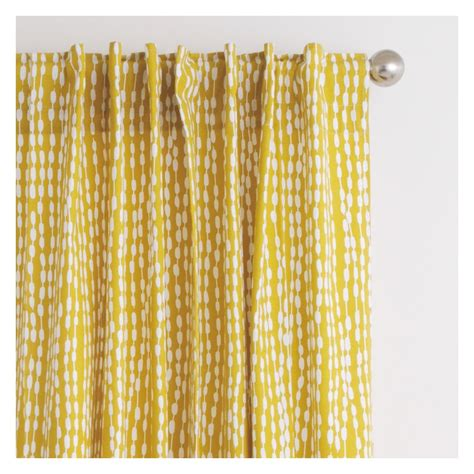 yellow pattern valance trene pair of mustard yellow patterned curtains 145 x