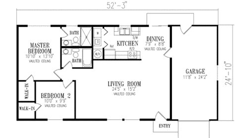 1000 sq ft house plans 1 bedroom southwest style house plans 1000 square foot home 1 story 2 bedroom and 2 bath 1