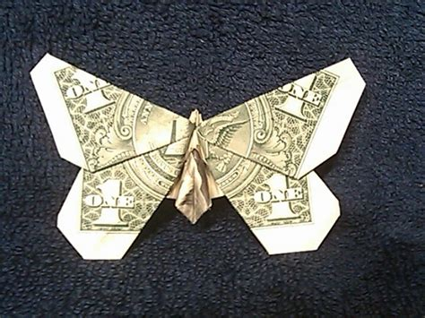 Butterfly Dollar Origami - butterfly money origami