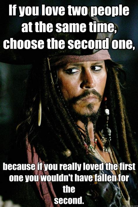 Jack Sparrow Memes - jack sparrow meme two people at the same time choose the second o captain jack sparrow
