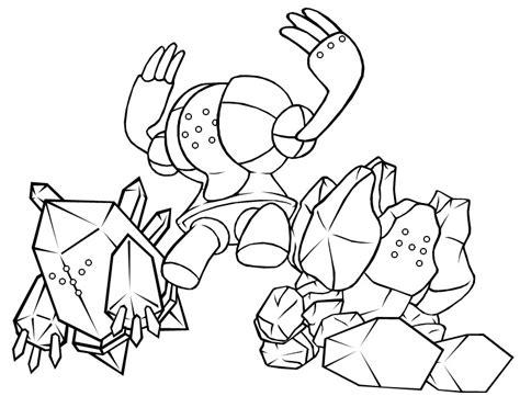 pokemon coloring pages regigigas the regis computer outline by stellasstar on deviantart
