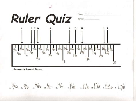 How To Read A Ruler Worksheet by Measurement Lab