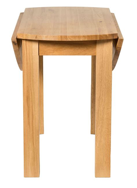 Waverly solid oak drop leaf kitchen dining round table hallowood