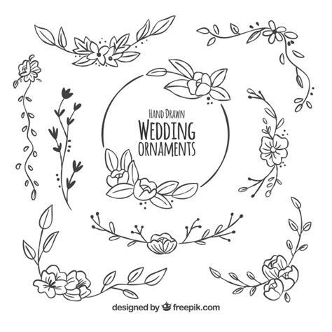 cute wedding decoration vector free download floral pack of wedding decoration vector free download