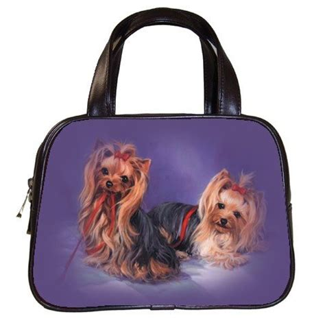 purses for yorkies black designer 100 leather pet yorkie handbag purse 19334244