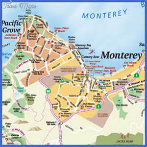 california map monterey monterey map map travel vacations