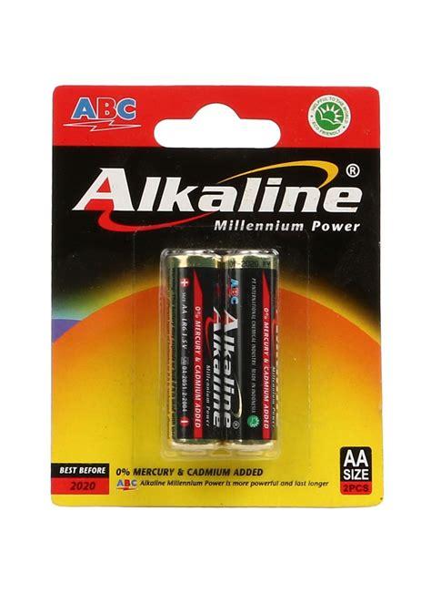 Baterai Aa Alkaline abc battery alkaline aa lr6 2 s millennium pwr pck