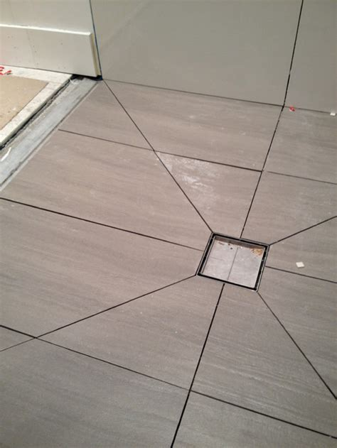 Tile Shower Floor Drain by Using Diagonal Cuts To Slope Your Shower Floor Planning