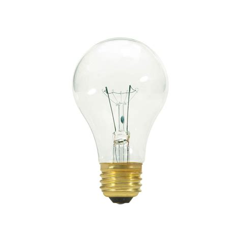 satco s3942 60a19 130 volt a19 medium base clear light