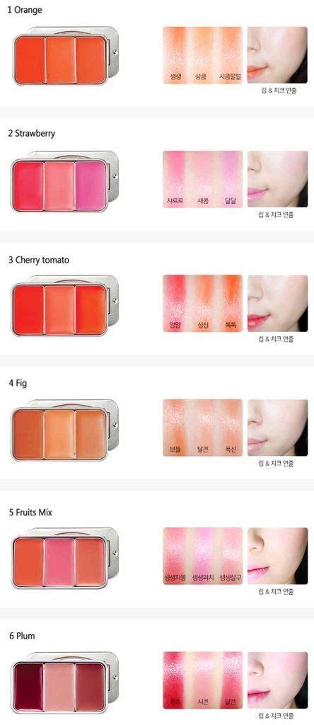 Etude House Fresh Fruit Lip Cheek 3 Color review skinfood fresh fruit lip and cheek trio 03 korean amino