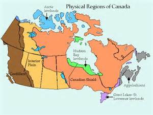 map of the us and canada physical features physical features of canada