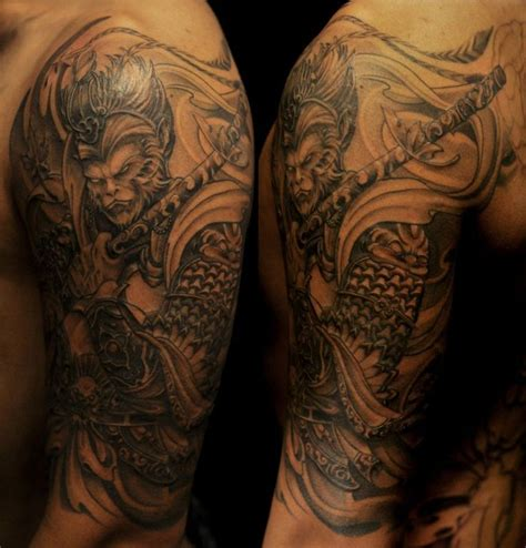 sun half sleeve tattoo designs 11 best images about sun wukong on monkey king
