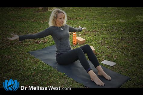 boat pose with block an intermediate yoga class focusing on improving your