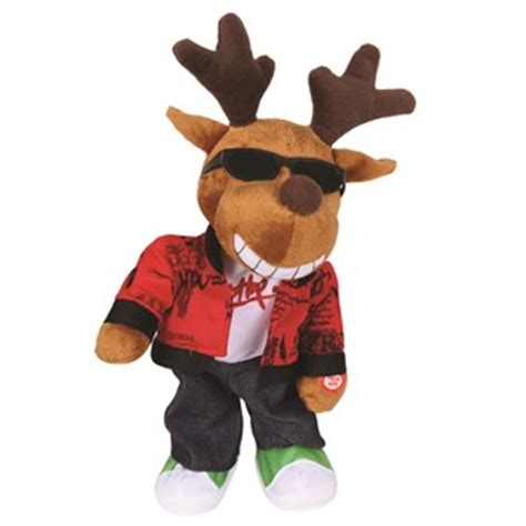 animated christmas dancing deer 33cm